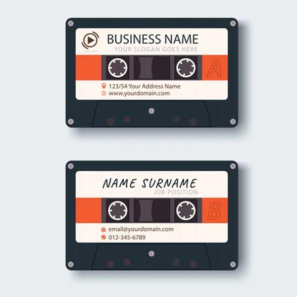 Impresión de tarjetas personales para músicos, artistas, instrumentistas y cantantes profesionales.