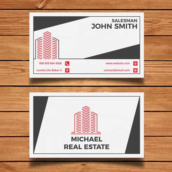 Impresión de tarjetas personales para empresas de construcción profesionales.