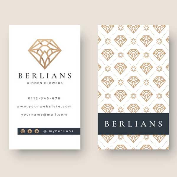 Imprimir tarjetas personales para joyería y joyeros profesionales.