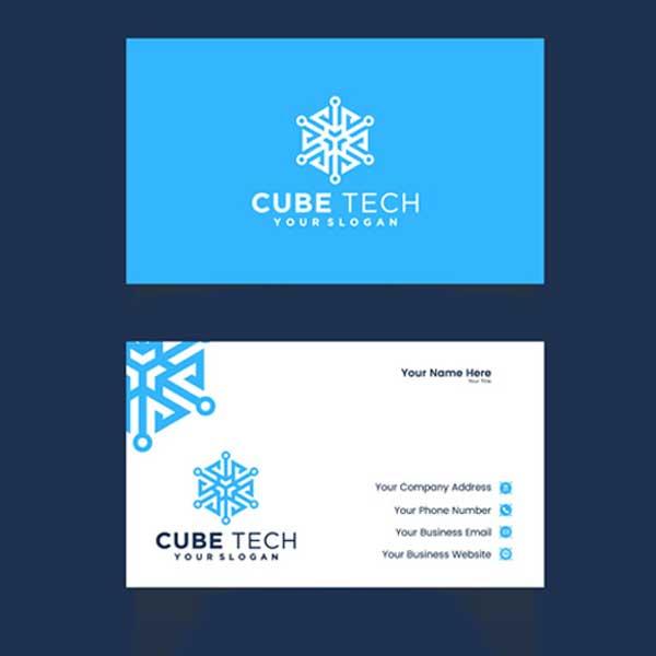 Impresión de tarjetas personales de aire acondicionado profesionales.