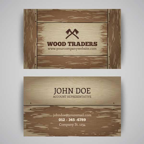 Impresión de tarjetas personales de carpintería para carpinteros profesionales.