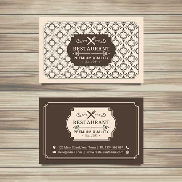Imprimir tarjetas personales de restaurante, con estilo moderno, elegante, minimalista o creativo.
