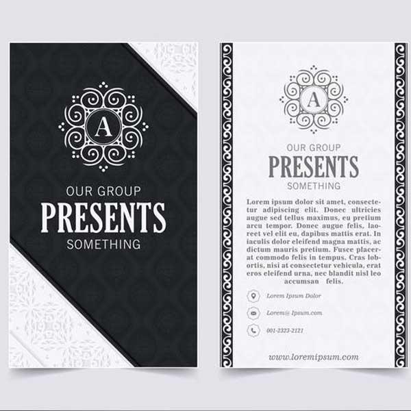Impresión de tarjetas personales para hotel.