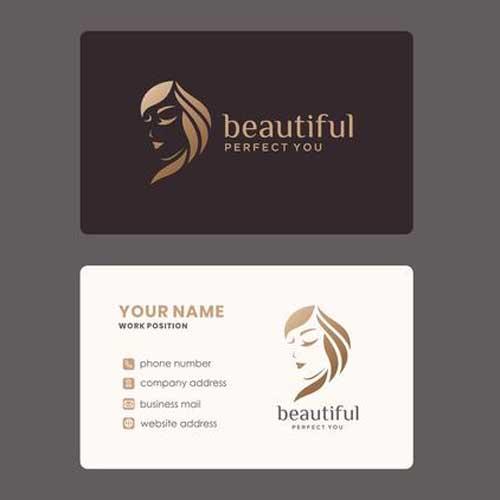 Imprimir tarjetas de presentación para esteticistas.