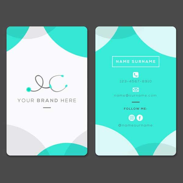 Impresión tarjetas personales para médicos profesionales.