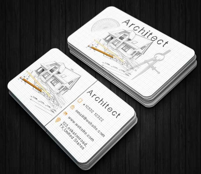 Impresión de tarjetas personales para arquitectos.