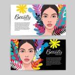 Impresión de tarjetas personales de belleza con un estilo moderno y elegante.