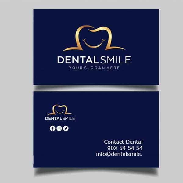 Impresión de tarjetas personales para dentistas. Con estilo profesional, moderno y elegante.