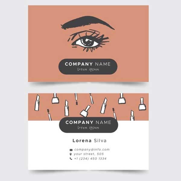 Impresión de tarjetas personales de estética.