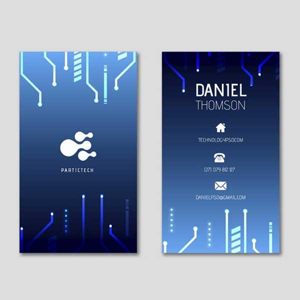 Impresión de tarjetas personales de informática para informáticos profesionales de todo tipo.