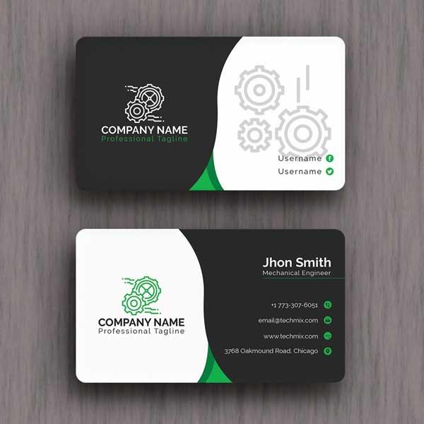 Impresión de tarjetas personales para ingeniero. Fabricadas en materiales de la más alta calidad.