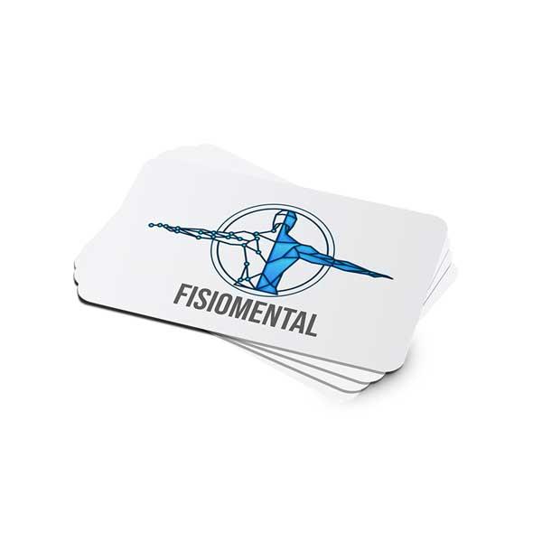 Impresión de tarjetas personales para kinesiólogo profesional al mejor precio.