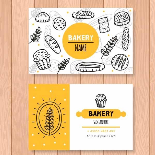 Impresión de tarjetas personales para pastelería.