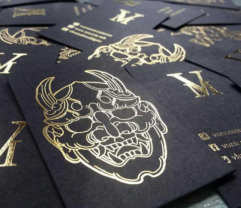 Impresión de tarjetas personales tattoo.