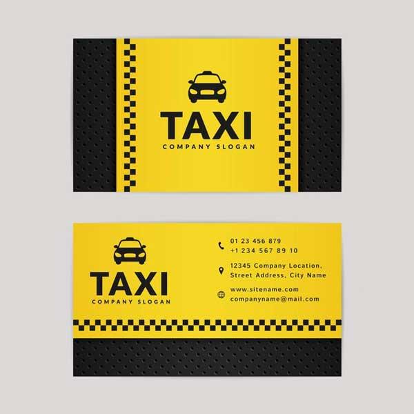 Imprimir tarjetas personales para taxi. Fabricadas en materiales de alta calidad.