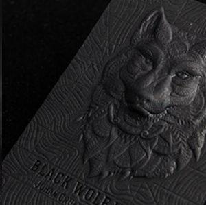 Relieve 3D tarjetas personales