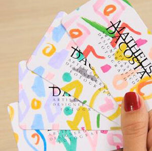 Diseño artístico para tarjetas