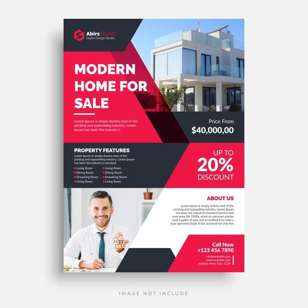 volante publicitario inmobiliaria