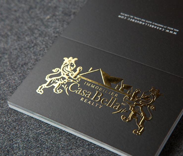 Tarjetas Oro con línea perforada