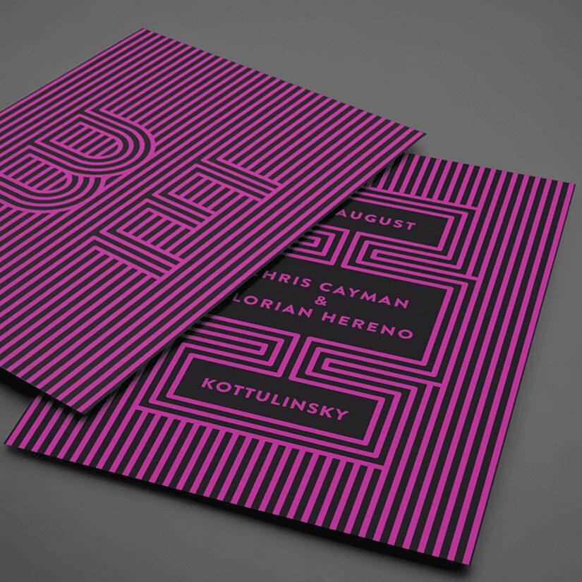 flyer con patron diseño