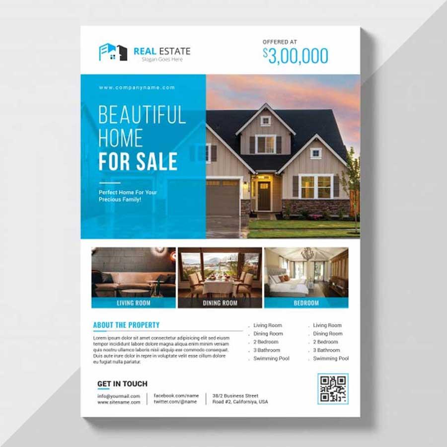 Impresión de flyers de inmobiliaria profesionales de alta calidad.