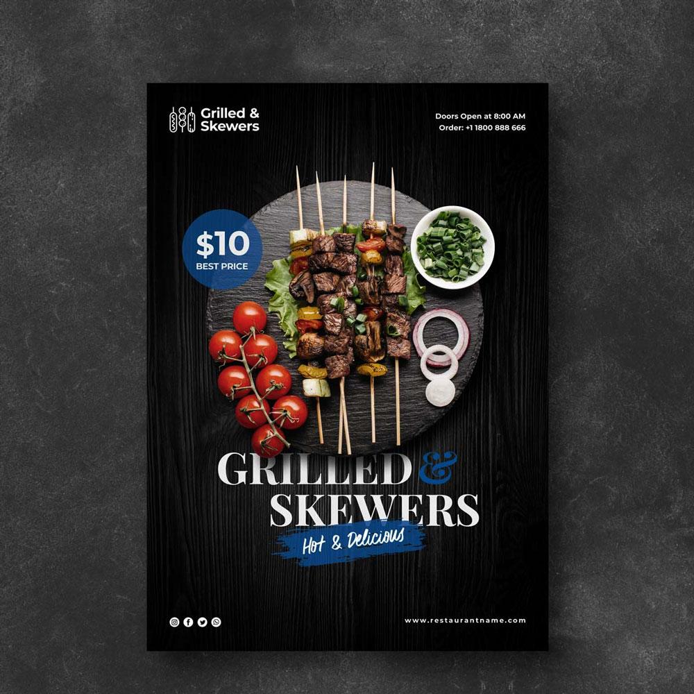 Impresión de flyers de restaurantes para negocios de hostelería de todo tipo.