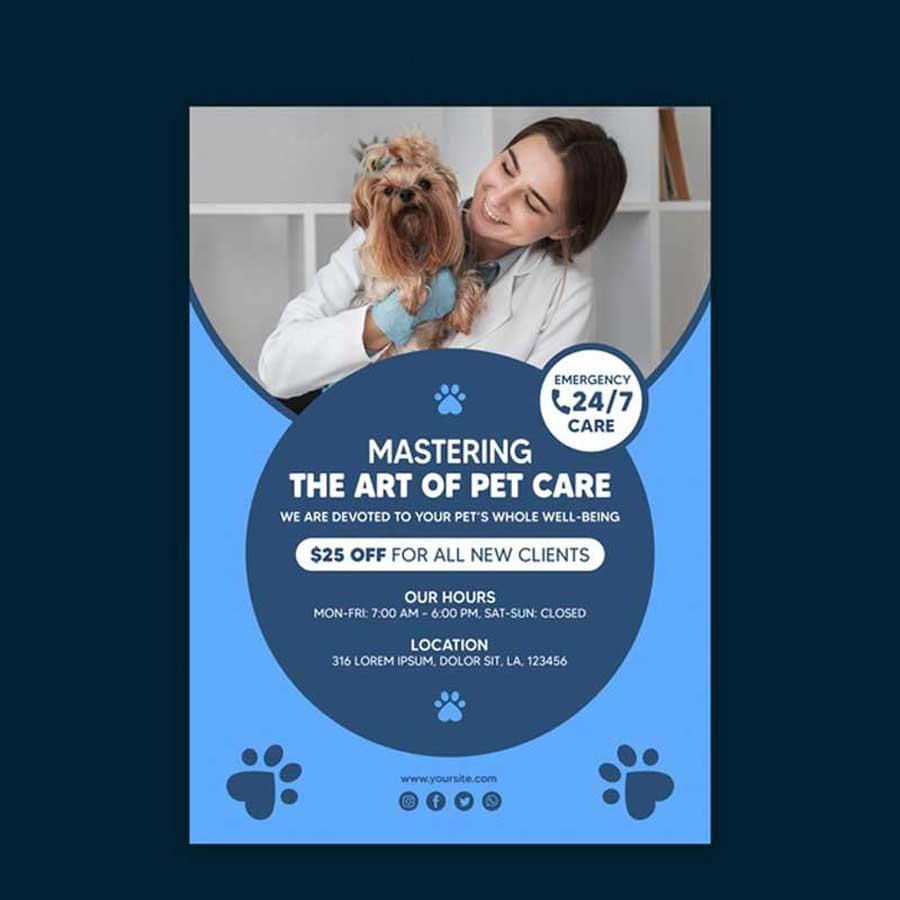 Impresión de flyers de veterinaria de alta calidad para veterinarios y veterinarias.