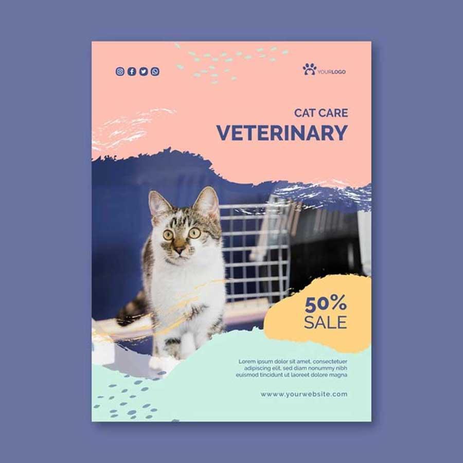 Imprimir folletos para veterinarios.