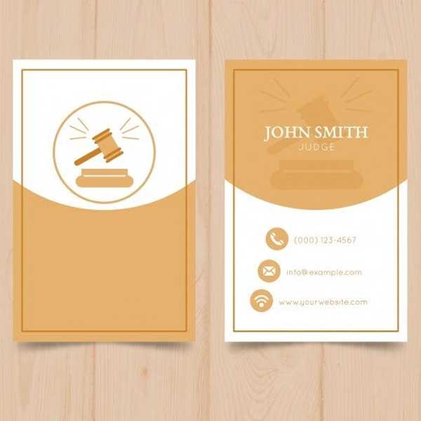 Tarjetas personales elegantes y modernas para abogado.