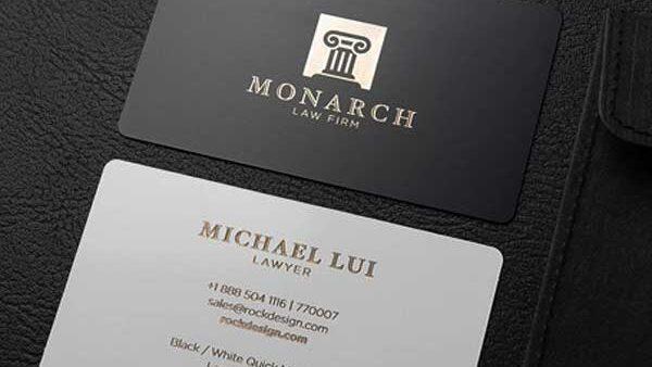 Tarjetas personales para abogado. Elegantes, modernas y de máxima calidad.