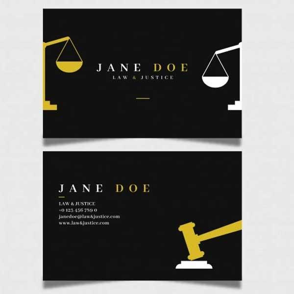 Impresión de tarjetas personales para abogados.